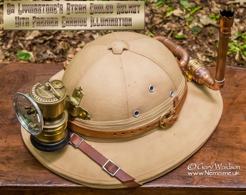 Dr Livingstone's Steam Cooled Helmet.  © Gary Waidson - www.Nemo.me.uk